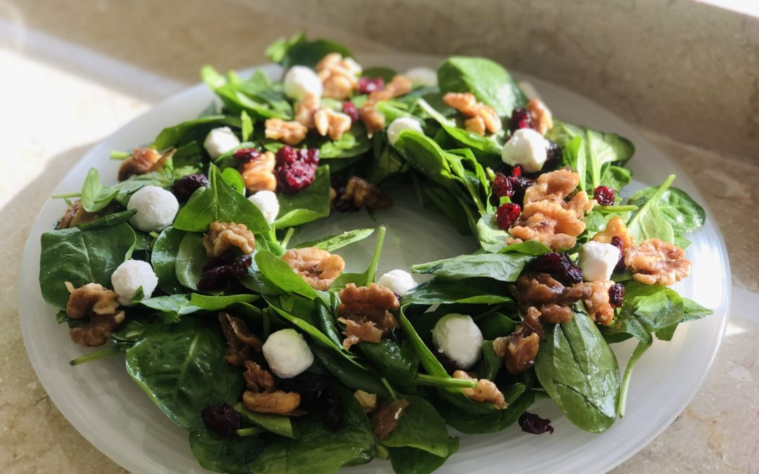 Christmas Salad Wreath  – Cooking Corner