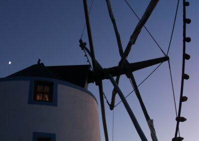 Our strangest accommodation: a renovated millthe night... the renovated windmill..luckily it was only for 1 night... the stepladder up to bed was an experience ...