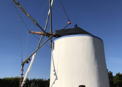 Our strangest accommodation for the night... a renovated windmill..