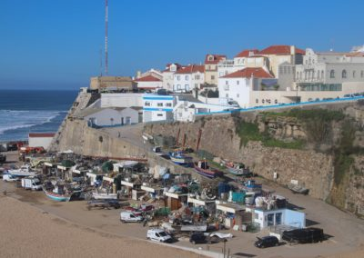 The fishing village of Ericeira, loved by many surfers